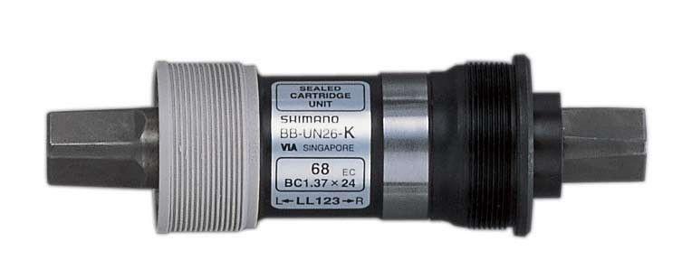 Boîtier de pédalier Shimano BB-UN 26 Carré BSA 68 x 113 mm