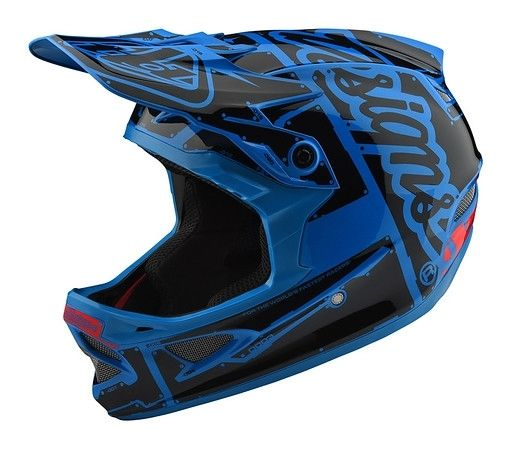 Casque Troy Lee Designs D3 Fiberlite Factory Ocean