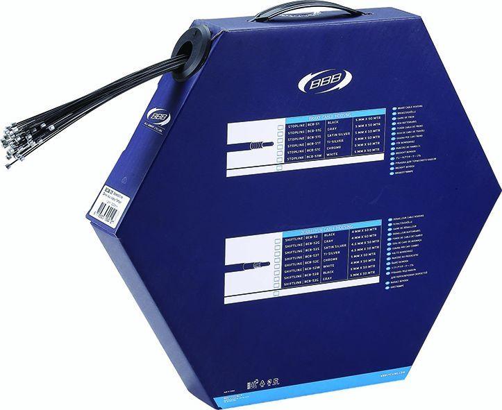 Boîte de 50 câbles dérailleur BBB téfloné SpeedWire 1.1x2000 mm - BCB-35