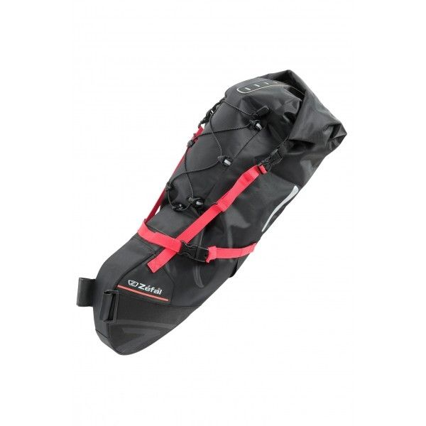 Sacoche de selle Zéfal Z Adventure R17 Bikepacking 17 L Noir/Rouge