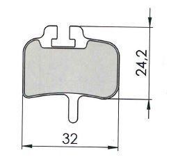 Plaquettes de frein 31 Clarks comp. Hayes HFX Nine / Mag Semi métallique