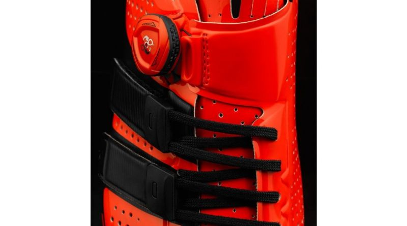 Chaussures route Giro Factor Techlace Rouge/Noir - 4