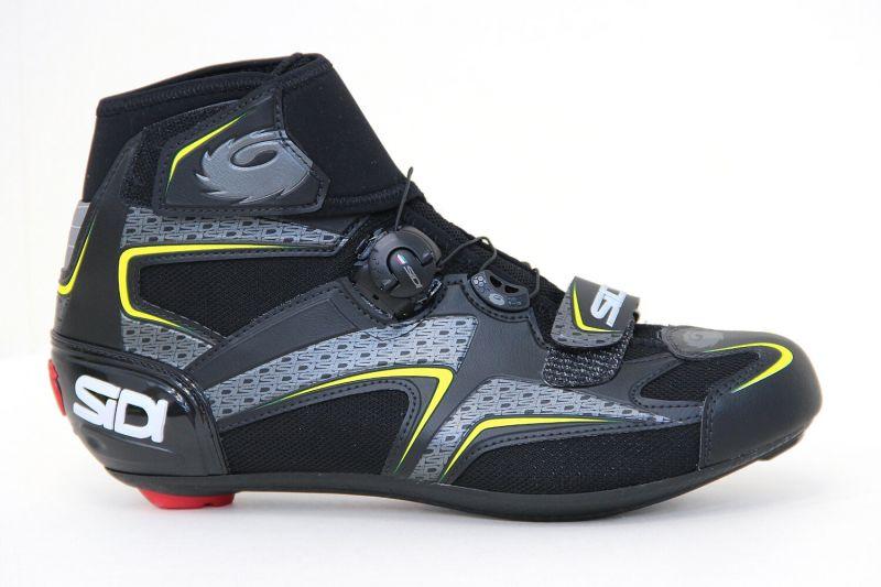 Chaussures hiver Sidi ZERO GORE Tige haute Noir/Jaune fluo