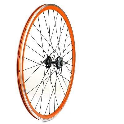 roue arri re fixie velox 700c alu moyeu flip flop orange sur ultime bike. Black Bedroom Furniture Sets. Home Design Ideas