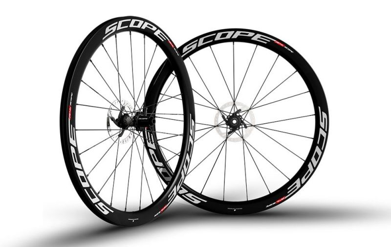 Roues Scope R4D 45 mm disque CL Campagnolo 11V Blanc (Paire)
