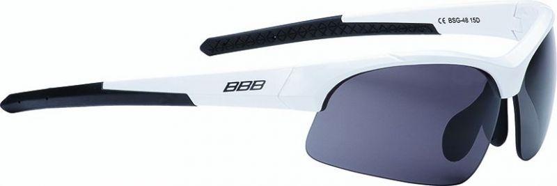 Lunettes BBB Impress Small Blanc brillant verres fumés 4807 - BSG-48
