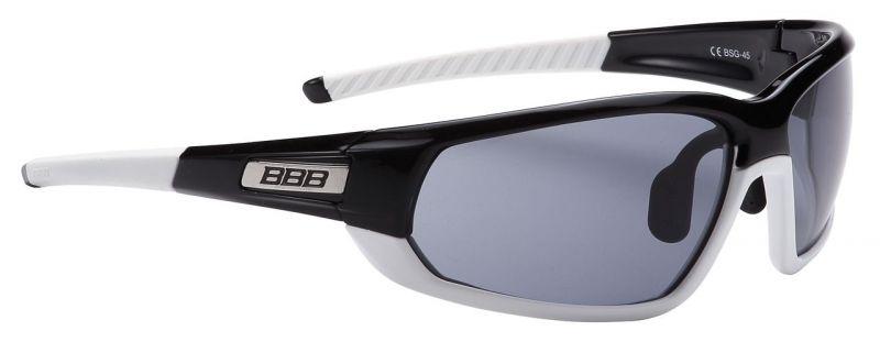 Lunettes BBB Adapt Fullframe verres fumés Noir/Blanc - BSG-45