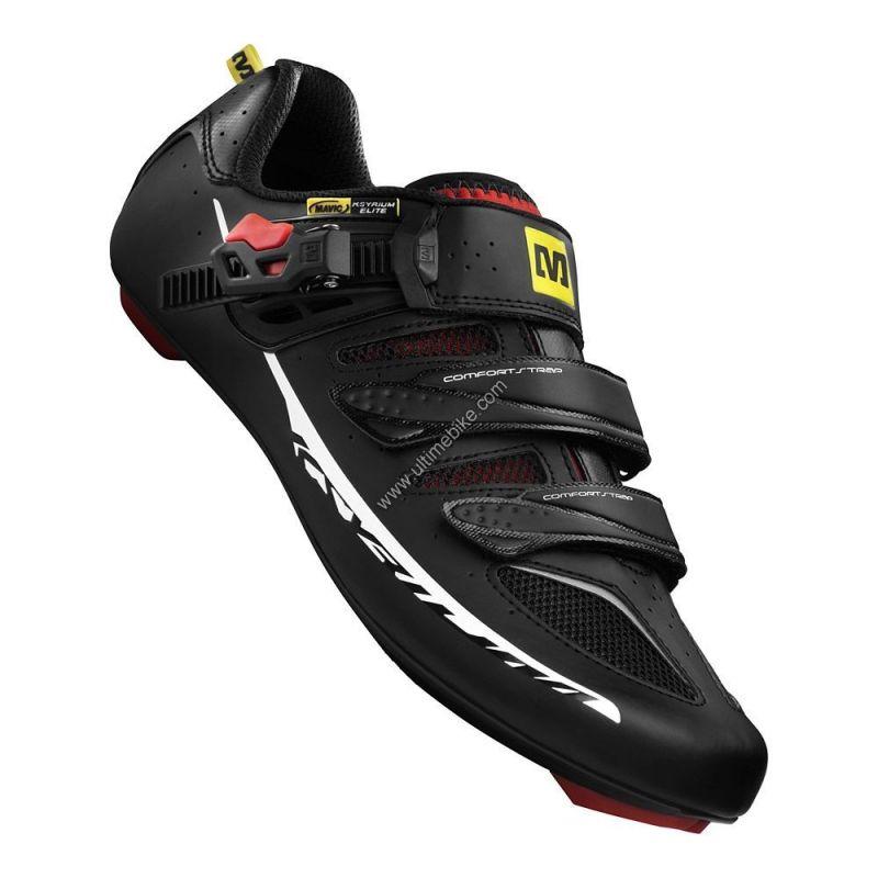 Chaussures route Mavic Ksyrium Elite Noir/rouge T.42 (Défauts d'aspect)