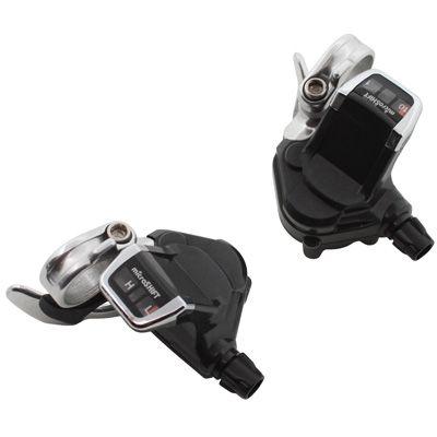 Manettes de vitesses MicroSHIFT SLR10 route sur cintre plat 2/3x10V Noir/Argent