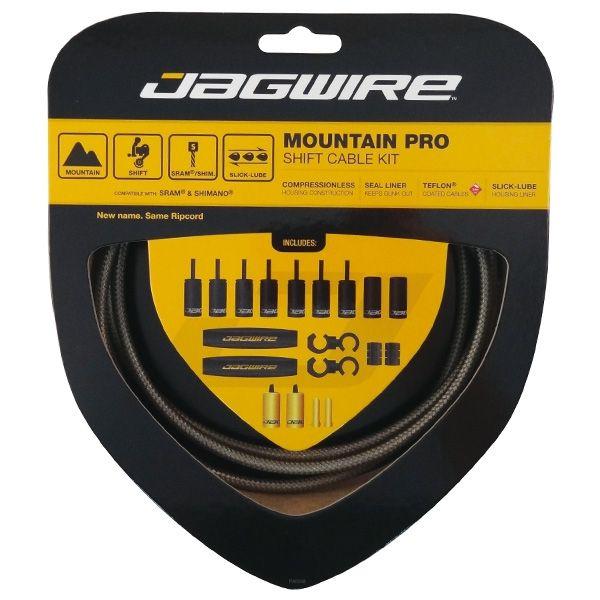 Kit complet câbles et gaines dérailleur Jagwire Mountain Pro - Argent Carbone MCK219