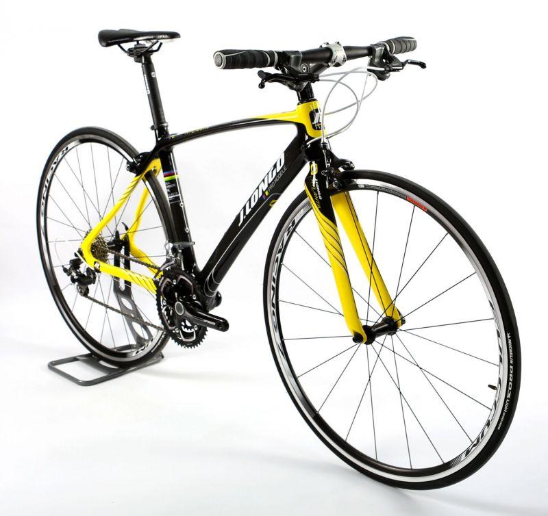 Vélo fitness J.LONGO Atlanta carbone 3x10V