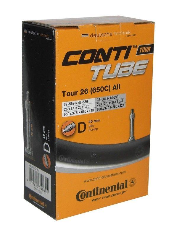 Chambre à air Continental Tour 26 x 1.1/8-1.75 Dunlop 40 mm