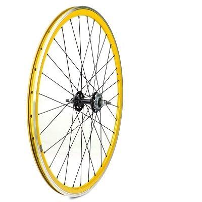 roue arri re fixie velox 700c alu moyeu flip flop jaune pi ces roues et pneus sur ultime bike. Black Bedroom Furniture Sets. Home Design Ideas
