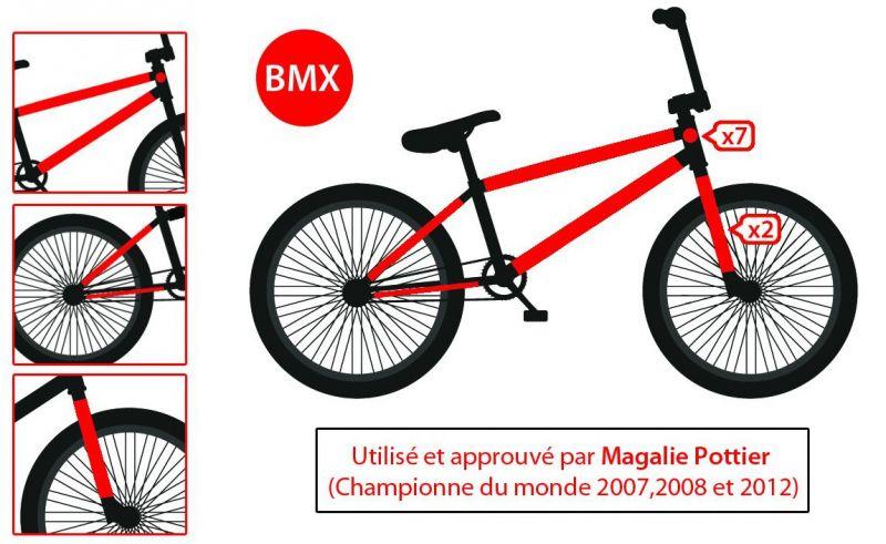 BMX cycle route Effacer Câble Rub Cadre Protecteur Patches MTB