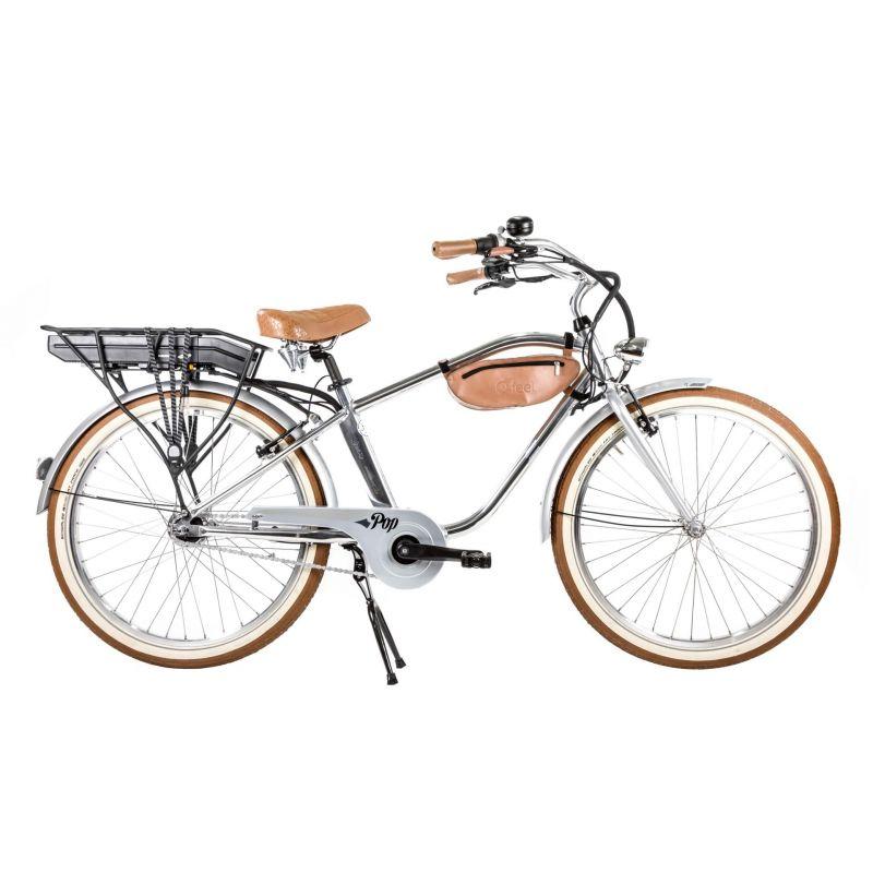 Vélo Cruiser électrique O2Feel Pop N7C 374 Wh Argent poli
