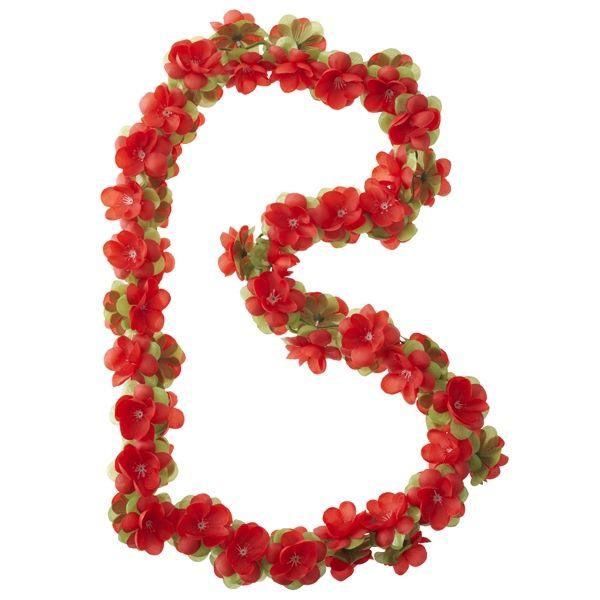 Décoration BASIL Fleur guirlande Rouge