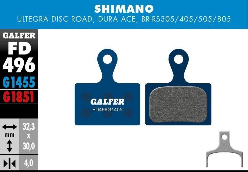 Plaquettes de frein Galfer Shimano Ultegra Semi-métallique Advanced