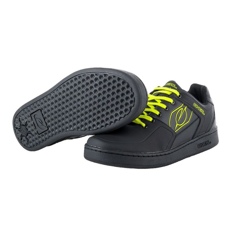 Chaussures O'Neal Pinned Pedal Noir/Jaune fluo - 2