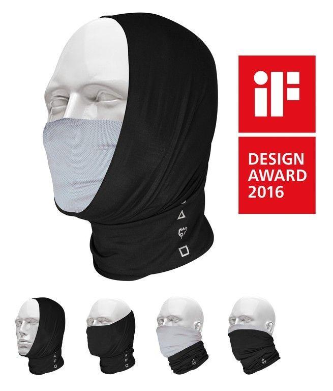 Foulard multifonction T-One Pro-Mask Noir/Gris