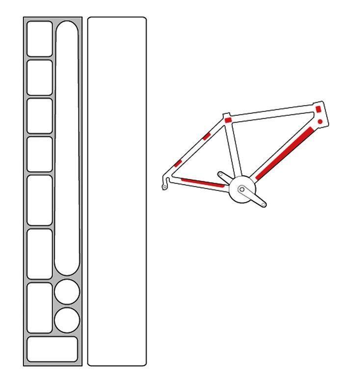 Kit protection de cadre Zéfal Skin Armor M Transparent