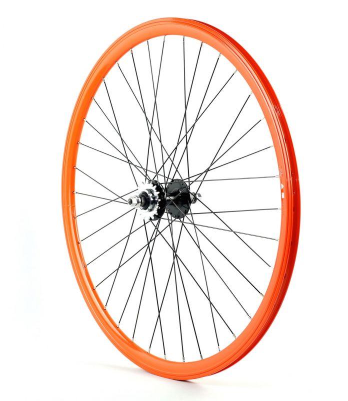 Roue fixie arrière 700 Velox 030C flip/flop hauteur 30 mm Orange