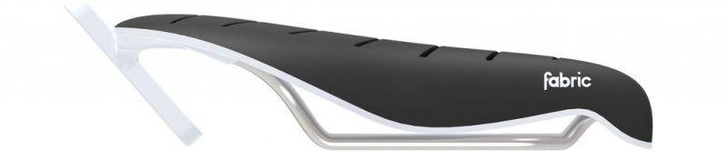Selle Fabric Tri Flat Race 134 mm Noir/Blanc