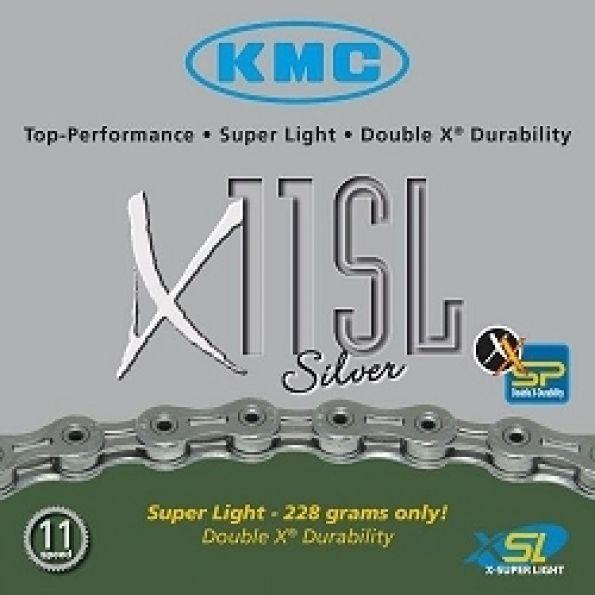 Chaîne vélo KMC X11SL Silver 11V Super légère 114M
