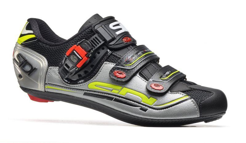Chaussures Sidi GENIUS 7 Noir/Argent/Jaune fluo