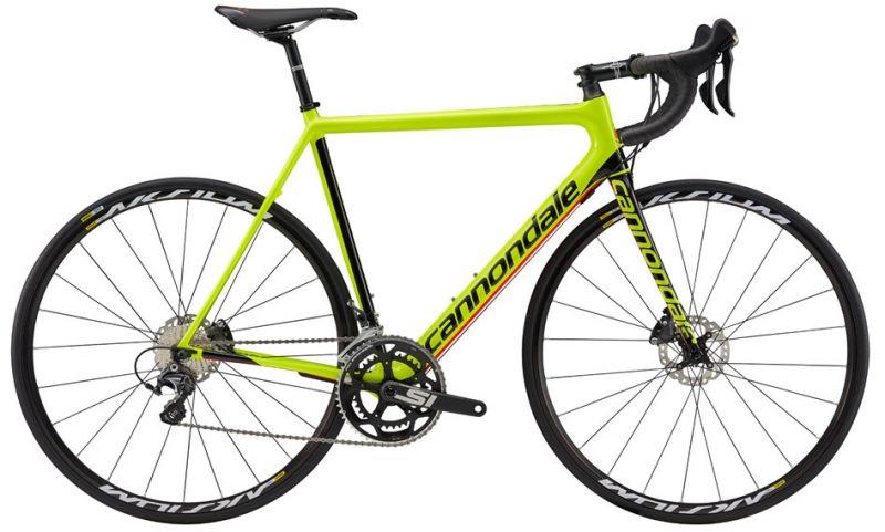 Vélo route Cannondale SuperSix EVO Disc Ultegra Jaune 2017
