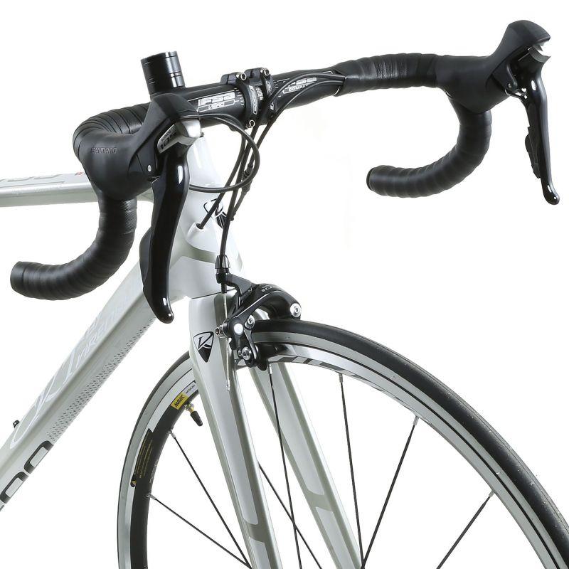 Vélo de route CKT by Virenque 799 carbone Shimano 105 Blanc / Argent (Taille M / 54) - 4