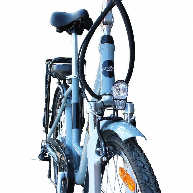 """Vélo électrique ville Newton Alu 26"""" Mixte 6V 36V/468 Wh Gris titane - 3"""