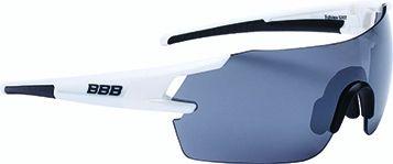 Lunettes BBB FullView Blanc brillant + Verre PC Smoke Flash Mirror - BSG-53