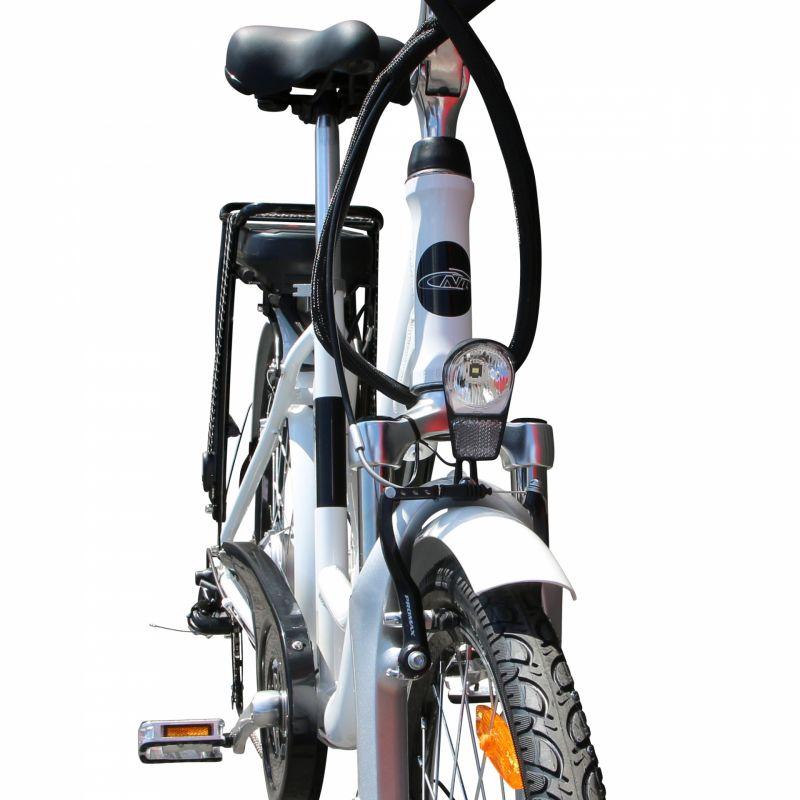 """Vélo électrique ville Newton Alu 26"""" Mixte 6V 36V/468 Wh Blanc nacré - 3"""