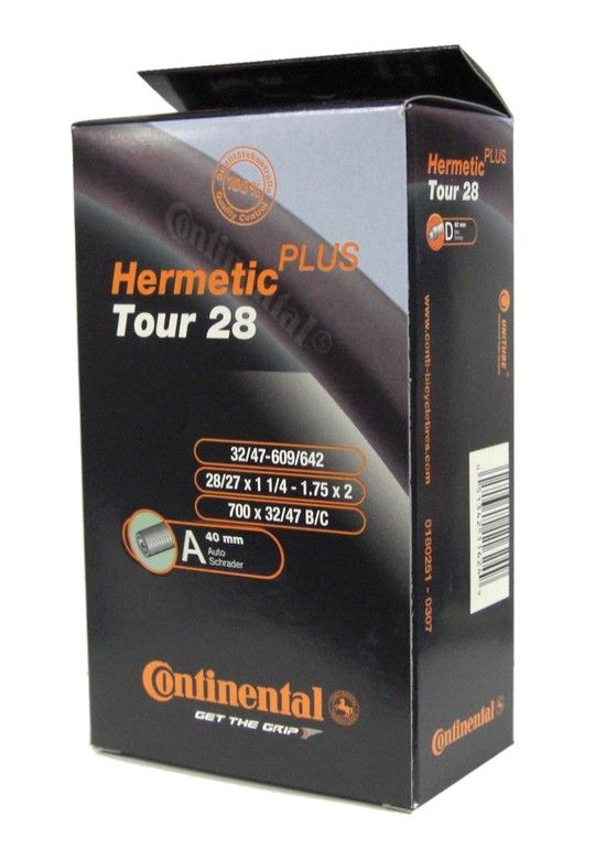 Chambre à air Continental Tour Hermetic Plus 700 x 32/47B/C Schrader 40 mm