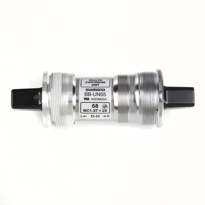 Boîtier de pédalier Shimano BB-UN55 Carré BSA 68 x 115 mm