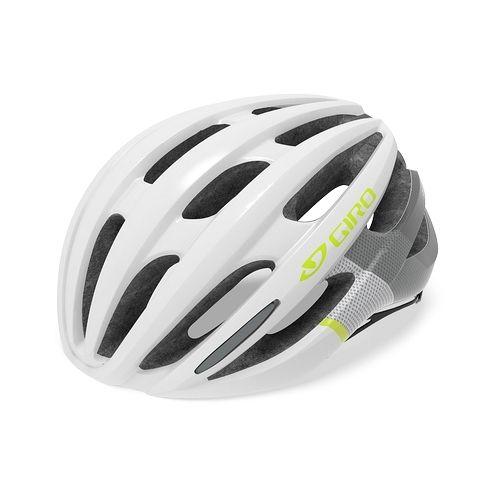 Casque femme Giro Saga Blanc/Gris/Citron