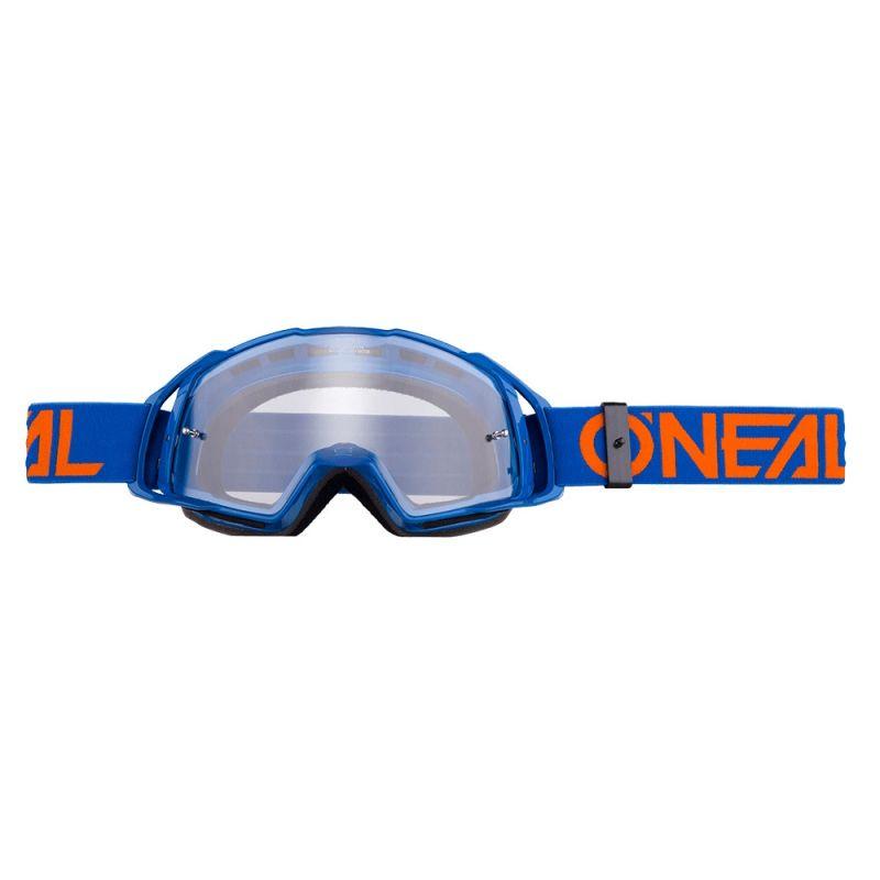 Masque O'Neal B20 Flat Bleu/Orange Clear
