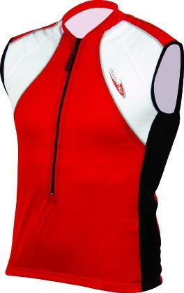 Maillot sans manches Massi Alps Rouge/Blanc