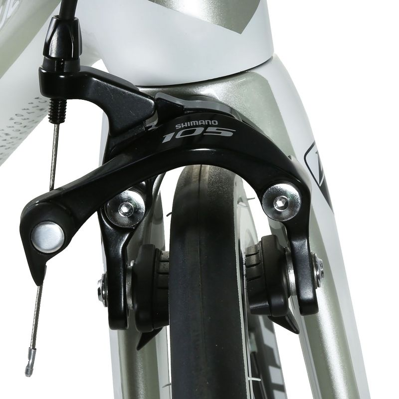 Vélo de route CKT by Virenque 799 carbone Shimano 105 Blanc / Argent (Taille M / 54) - 3