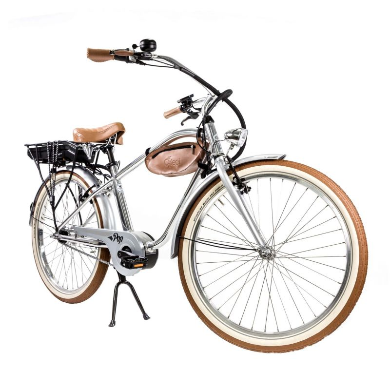 Vélo Cruiser électrique O2Feel Pop N7C 374 Wh Argent poli - 1