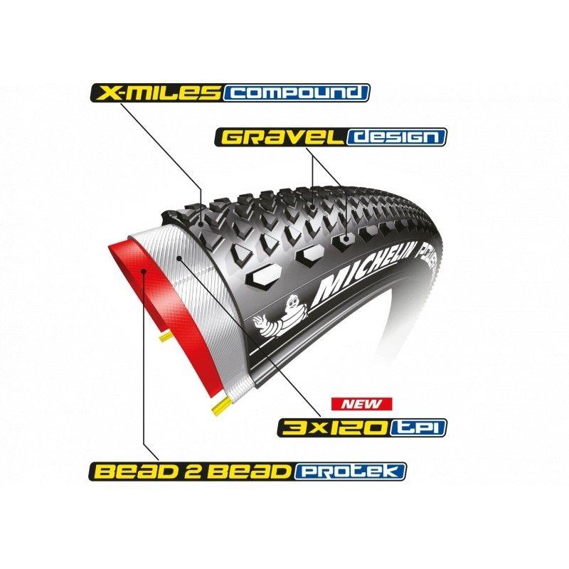 Pneu Michelin Power Gravel 700 x 33C Tubeless Ready TS - 2