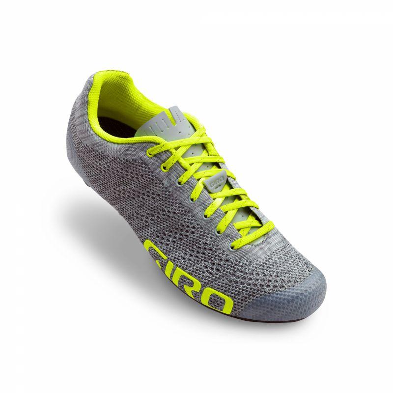 Chaussures Giro Empire E70 Knit Gris Heather/Jaune fluo
