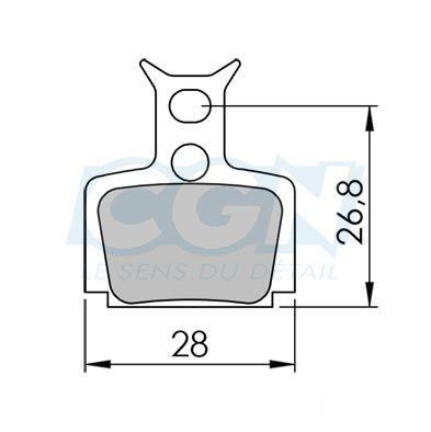 Plaquettes de frein 12 Clarks comp. Formula Mega / The one Métallisée