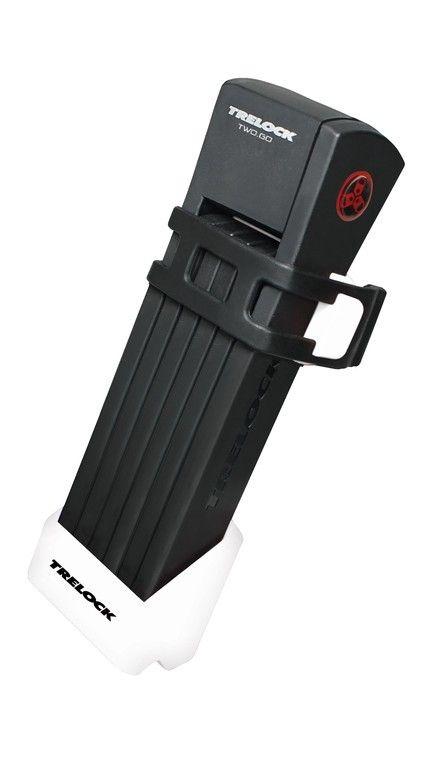 Antivol pliable Trelock TWO.GO FS 200/75 avec support Blanc