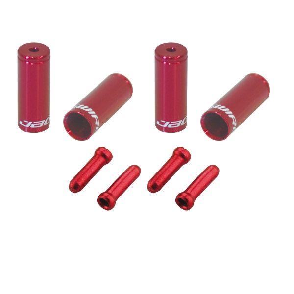 Pack arrêts de gaines et embouts Jagwire Universal Pro - Rouge