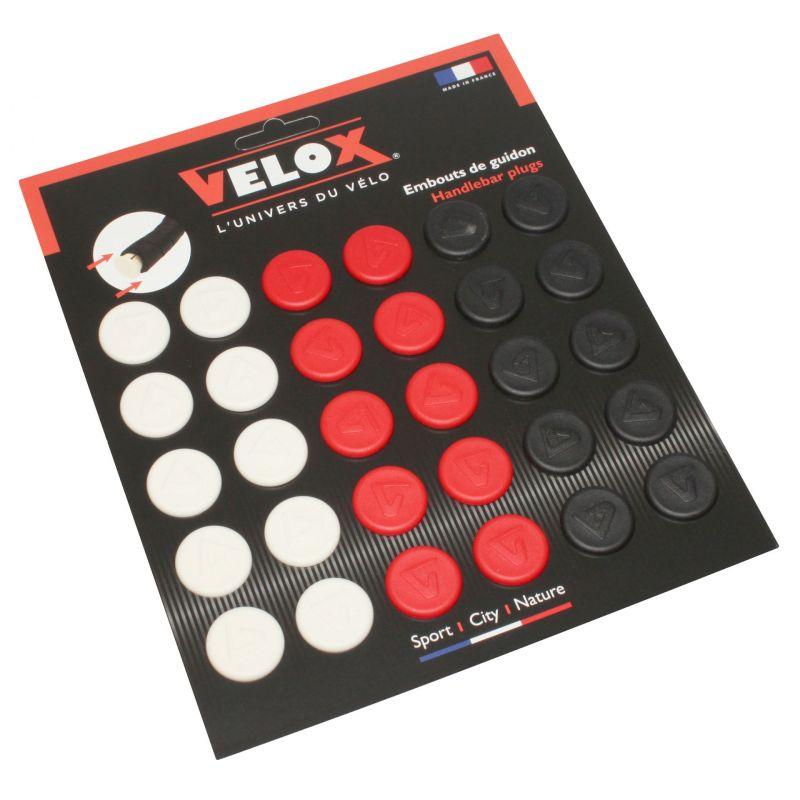 Bouchons de cintre VELOX Rouge (x10) + Blanc (x10) + Noir (x10)