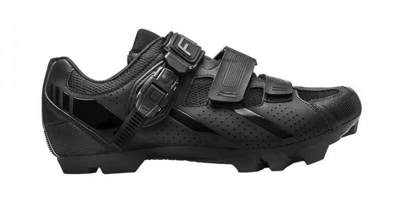 Chaussures VTT FLR Elite F-65 Clic + 2 Bandes auto agrippantes Noir - 2