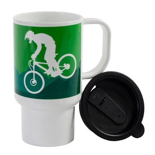 Mug de voyage Downhillers Design 312ml Vert - 1