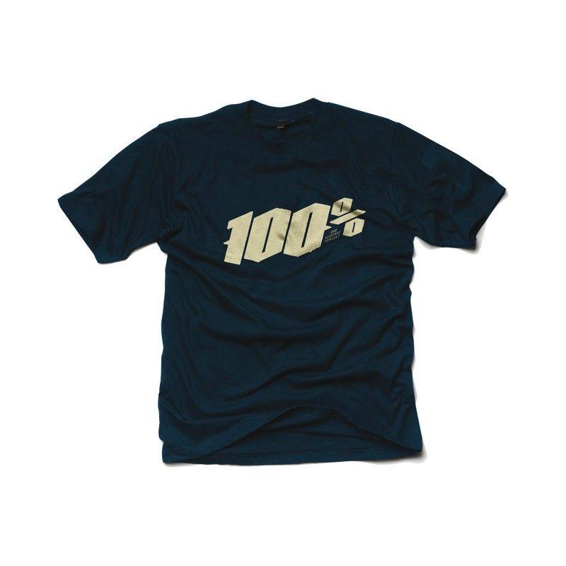 Tee shirt 100% Blackletter Navy (Bleu)