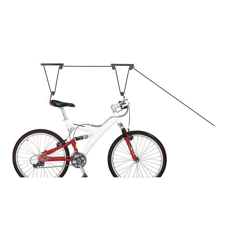 rangement v lo icetoolz par poulie au plafond sur ultime bike. Black Bedroom Furniture Sets. Home Design Ideas